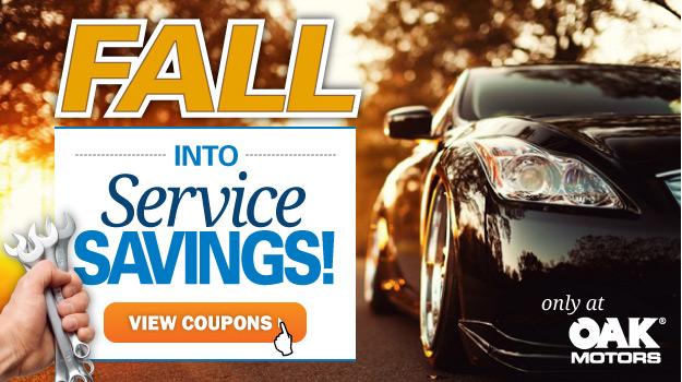 Service Specials at Oak Motors