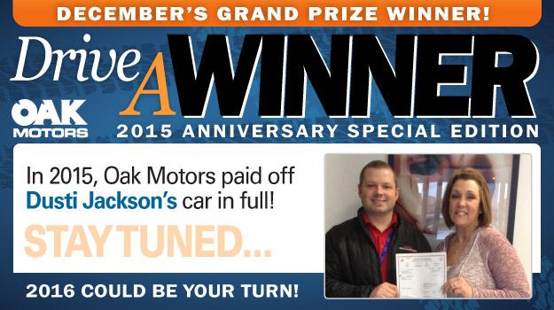 Oak Motors Drive a Winner Contest
