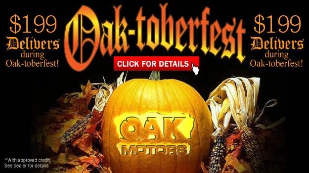 $199 Delivers* during Oak-toberfest