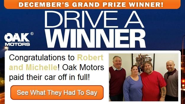 Drive a Winner - Oak Motors - December 2016 Grand Prize
