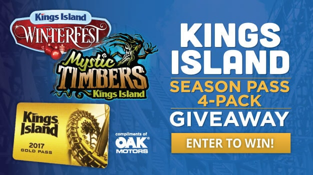 King's Island 2017 Season Pass Giveaway