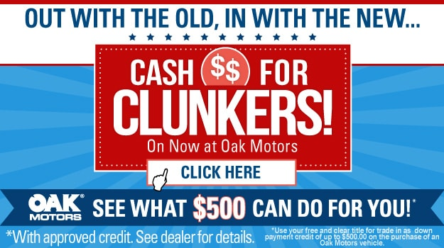 Cash For Clunkers at Oak Motors