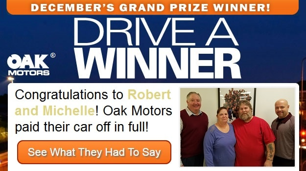 Drive a Winner - Oak Motors - December 2016 Grand Prize