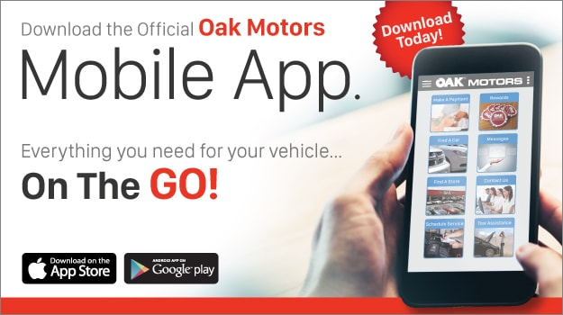 Check Out The Oak Motors App, Available On Google Play And The App Store!