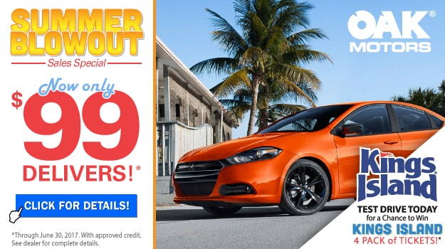 Summer Blowout Sales Event At Oak Motors