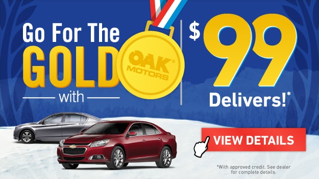 Go For The Gold at Oak Motors