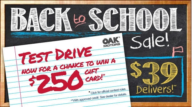 Back To School Sales Event