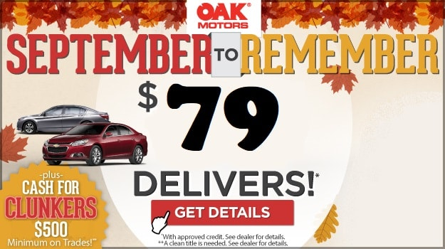 September to Remember Savings Event