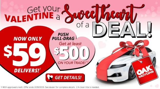 Sweetheart Deal at Oak Motors