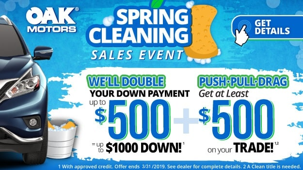 Spring Cleaning Sales Event at Oak Motors