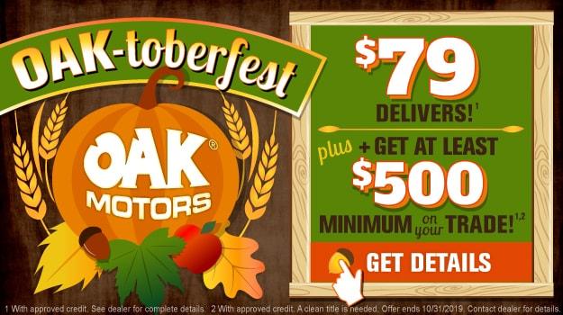 Oaktoberfest Sales Event