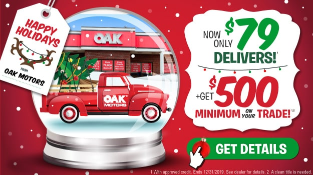 Happy Holiday Sale at Oak Motors