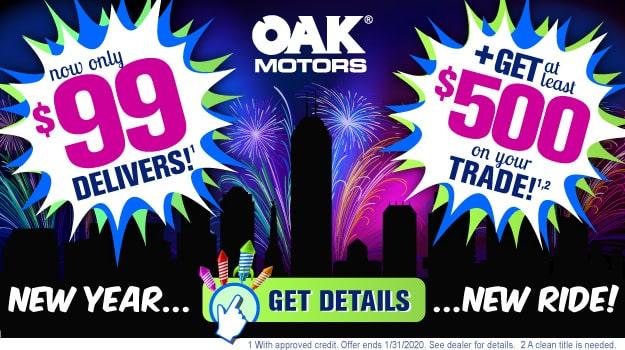New Year, New Ride Sales Event at Oak Motors