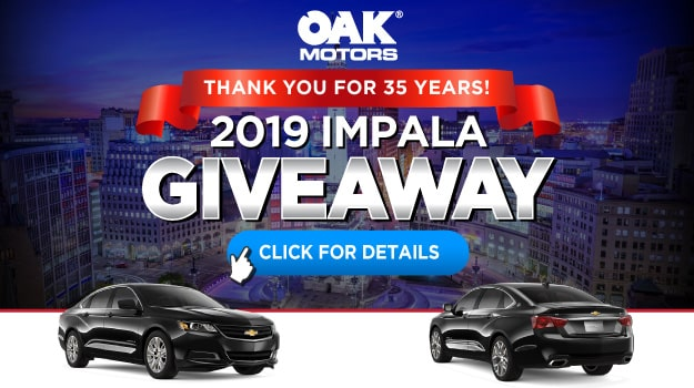 35th Anniversary Chevy Impala Giveaway