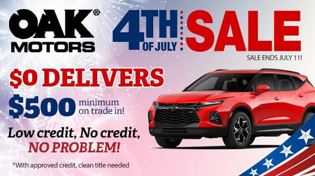 Oak Motors 4th of July Sale