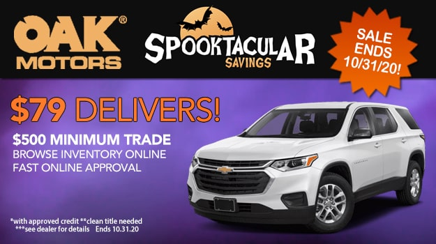 Oak Motors' Spooktacular Savings Event