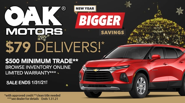 New Year Bigger Savings at Oak Motors