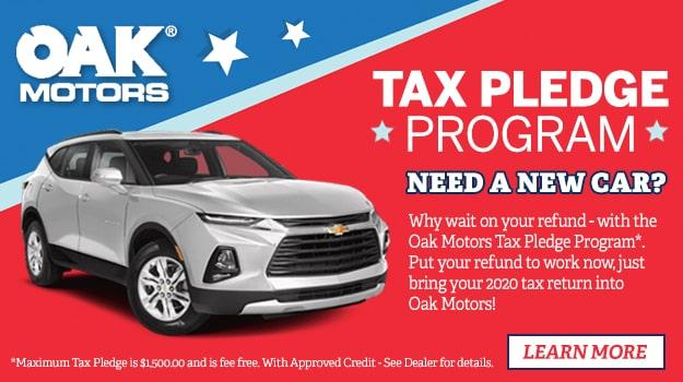 Oak Motors Tax Pledge Program