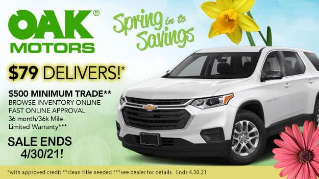 Spring Savings at Oak Motors